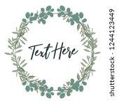 floral frame simple elegance.... | Shutterstock .eps vector #1244123449