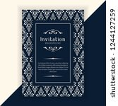 decorative wedding invitation... | Shutterstock .eps vector #1244127259