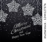 christmas  new year background... | Shutterstock .eps vector #1244127376