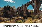 san jordi bridge  art deco...   Shutterstock . vector #1244128483