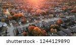 panorama aerial view... | Shutterstock . vector #1244129890