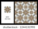 collection greeting cards and... | Shutterstock .eps vector #1244131990