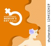 international women's day with... | Shutterstock .eps vector #1244132419