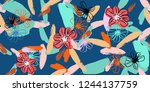 abstract beautiful seamless... | Shutterstock .eps vector #1244137759