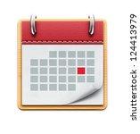 vector illustration of detailed ... | Shutterstock .eps vector #124413979