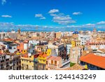 skyline of valencia spain | Shutterstock . vector #1244143249