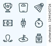 game icons line style set with... | Shutterstock .eps vector #1244143726