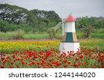 beautiful ornamental wind... | Shutterstock . vector #1244144020