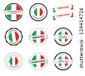 made in italy. set of labels... | Shutterstock .eps vector #124414726