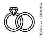 diamond ring icon vector | Shutterstock .eps vector #1244153536
