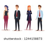 group of business people... | Shutterstock .eps vector #1244158873