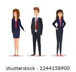 group of business people...   Shutterstock .eps vector #1244158900