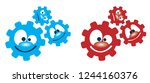 cogwheel gear mechanism face... | Shutterstock .eps vector #1244160376