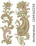 paisley style  set  | Shutterstock . vector #1244162233
