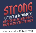strong letters and numbers with ... | Shutterstock .eps vector #1244162659