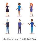 group of people characters | Shutterstock .eps vector #1244162776