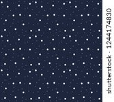 snowflakes seamless pattern.... | Shutterstock .eps vector #1244174830