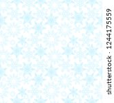 snowflakes seamless pattern.... | Shutterstock .eps vector #1244175559