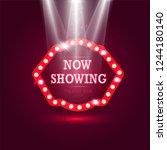 shining retro billboard with...   Shutterstock .eps vector #1244180140