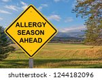 allergy season ahead caution... | Shutterstock . vector #1244182096