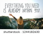 quote. best inspirational and... | Shutterstock . vector #1244182630