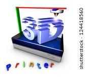 3d printer using...   Shutterstock . vector #124418560