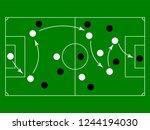 soccer or football game...   Shutterstock .eps vector #1244194030
