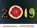 healthy holidays food and diet. ... | Shutterstock . vector #1244195320