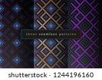 vector set of sacred geometry... | Shutterstock .eps vector #1244196160