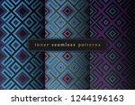 vector set of sacred geometry... | Shutterstock .eps vector #1244196163