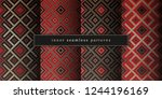 vector set of sacred geometry... | Shutterstock .eps vector #1244196169