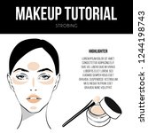 contouring guide tutorial.... | Shutterstock .eps vector #1244198743