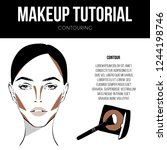 contouring guide tutorial.... | Shutterstock .eps vector #1244198746