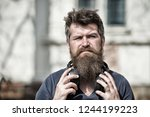 get music subscription.... | Shutterstock . vector #1244199223