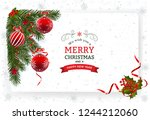 christmas background with... | Shutterstock .eps vector #1244212060