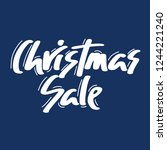 holiday sale  christmas... | Shutterstock .eps vector #1244221240