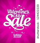 valentine s day sale banner. | Shutterstock .eps vector #124422220