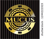 mucus shiny emblem   Shutterstock .eps vector #1244222323