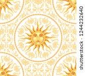 vector celestial baroque yellow ...   Shutterstock .eps vector #1244232640