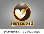 shiny emblem with love icon... | Shutterstock .eps vector #1244234503
