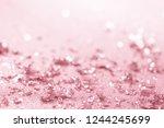 rose gold glitter confetti... | Shutterstock . vector #1244245699