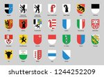 swiss cantons icon set | Shutterstock .eps vector #1244252209
