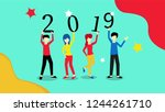 happy new year 2019. new year...