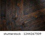 texture of brazilian rosewood ... | Shutterstock . vector #1244267509