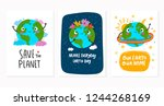 world earth day. hand drawn... | Shutterstock .eps vector #1244268169