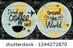 vector banner with handwritten... | Shutterstock .eps vector #1244272870