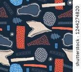 vector seamless pattern. torn... | Shutterstock .eps vector #1244274820