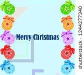 christmas balls  new year... | Shutterstock .eps vector #1244277340