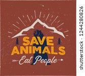 camping emblem art. wilderness... | Shutterstock .eps vector #1244280826