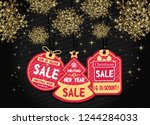 merry christmas and happy new... | Shutterstock .eps vector #1244284033